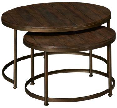 HammaryLeoneHammary Leone Round Nesting Cocktail Tables Jordans - Round nesting cocktail table