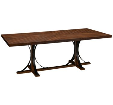 Magnolia Home Iron Trestle Table Jordan S Furniture