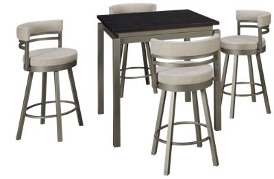 Amisco Cameron 5 Piece Counter Dining Set. Product Image. Product Image