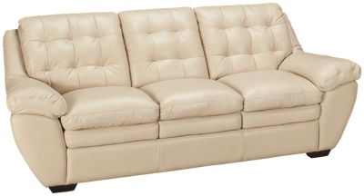 Futura Acacai Taupe Leather Sofa. Product Image. Product Image