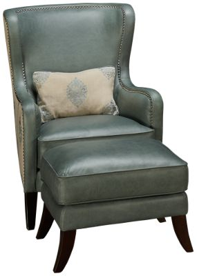 ... Leather Accent Chair U0026 Ottoman. Product Image. Product Image; Product  Image