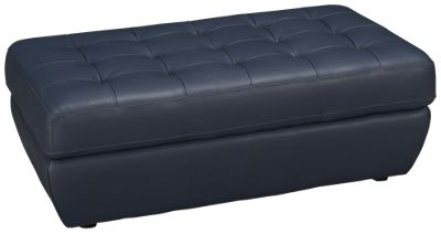 Natuzzi Editions Ashbury Leather Accent Cocktail Ottoman. Product Image.  Product Image