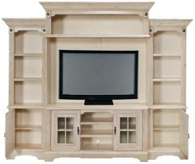 Oak Furniture West Antique White 5 Piece Entertainment Center Product Image Loader Productimage Googleimage