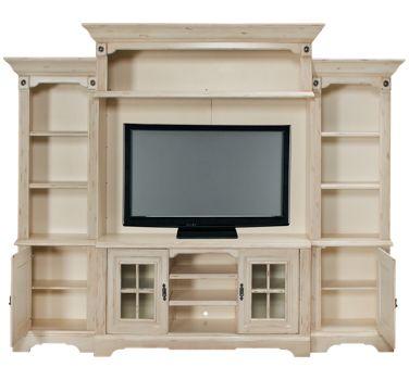 Oak Furniture West Antique White 5 Piece Entertainment Center Product Image Unavailable